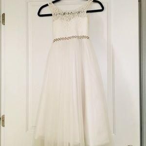 Junior bride or flower girl dress.